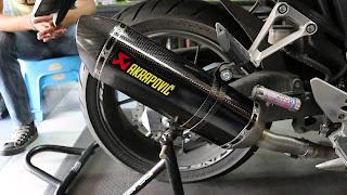 rekomendasi knalpot  AKRAPOVIC untuk Motor Kawasaki NINJA 250Fi