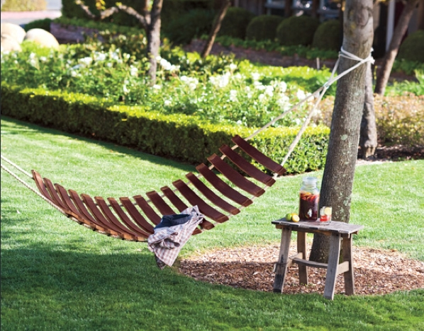 diy garden furniture from a trampoline an old bed or some palets very inventive - Garden Furniture Diy
