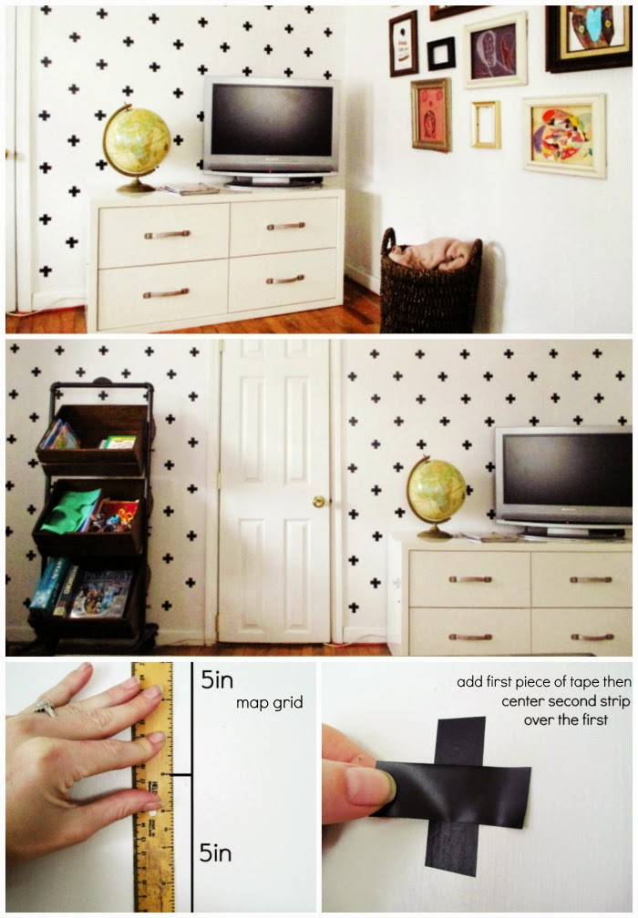 DIY cheap and easy accent wall with tape