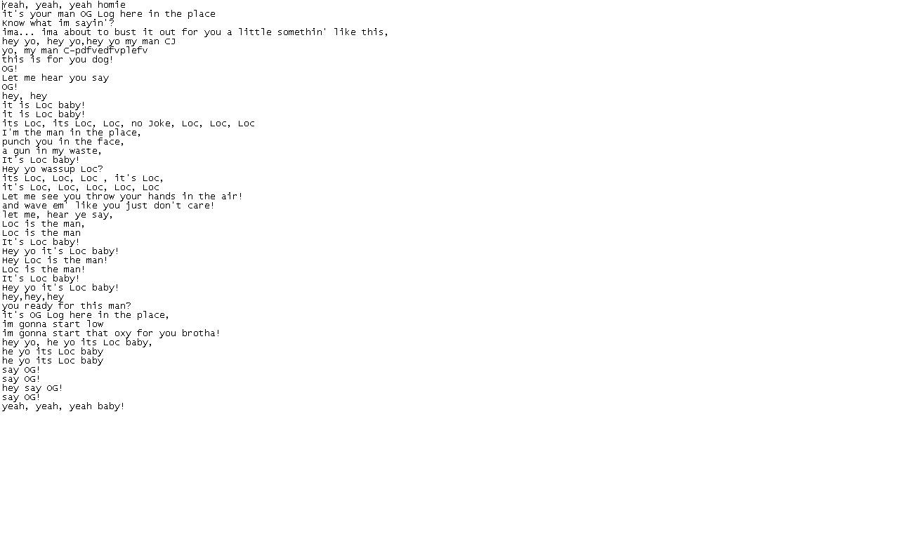 rap lyrics Freestyle rap lyrics at az music lyrics site search rap battle words for any hip hop and r&b song.