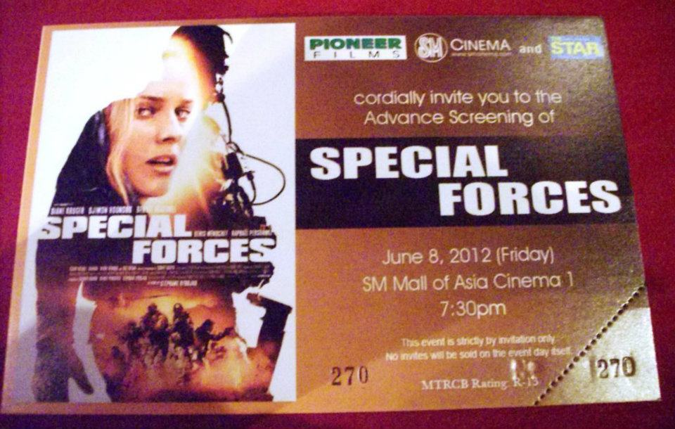 Eat Work and Blog Special Forces Movie Press Conference and