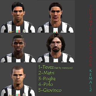 Juventus Facepack PES 2013 by Kemal2