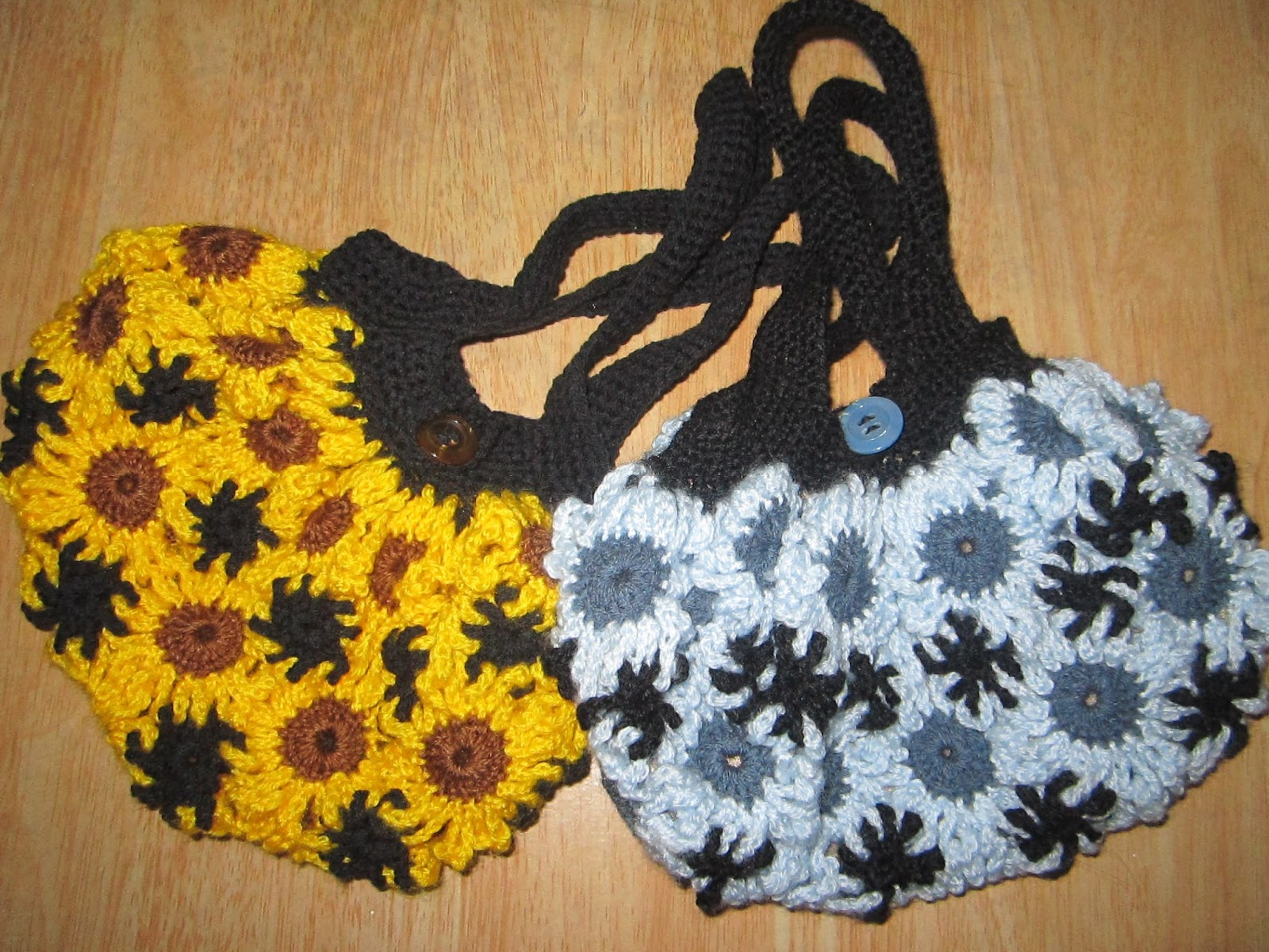 Crochet Easter Bag Pattern : Crochet flower bag - A little love everyday!