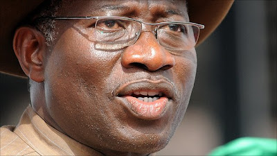 """I SEE GOLIATHS EVERYWHERE"" - PRESIDENT GOODLUCK JONATHAN."