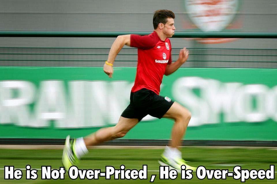 Kecepatan Lari Bale Sebelum Mencetak Gol