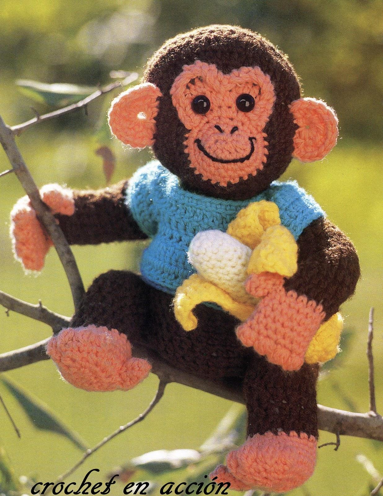 Free Crochet Pattern For Monkey Tail : Crochet En Accion: Semana de la fauna: mam?feros y........