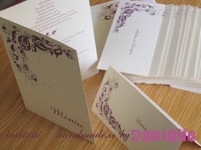 set meniu-placecard nunta