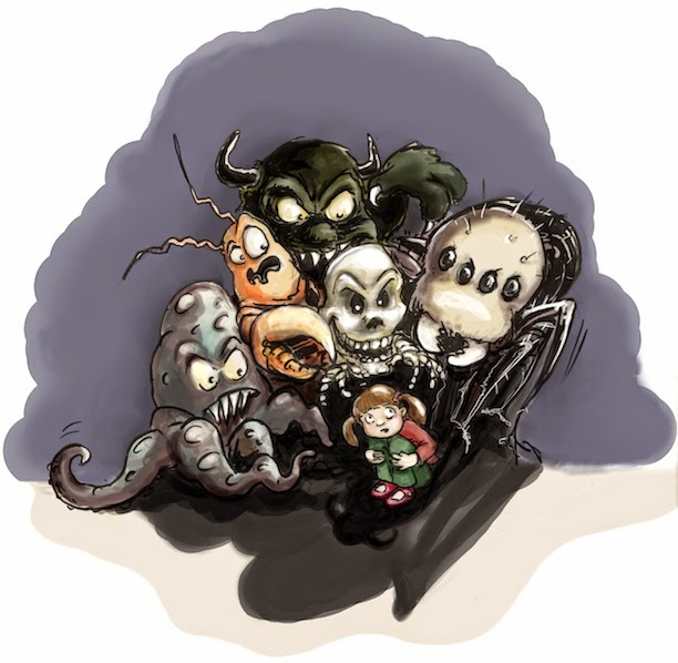 nightmare, children's book illustration, Albtraum, Kinderbuchillustration