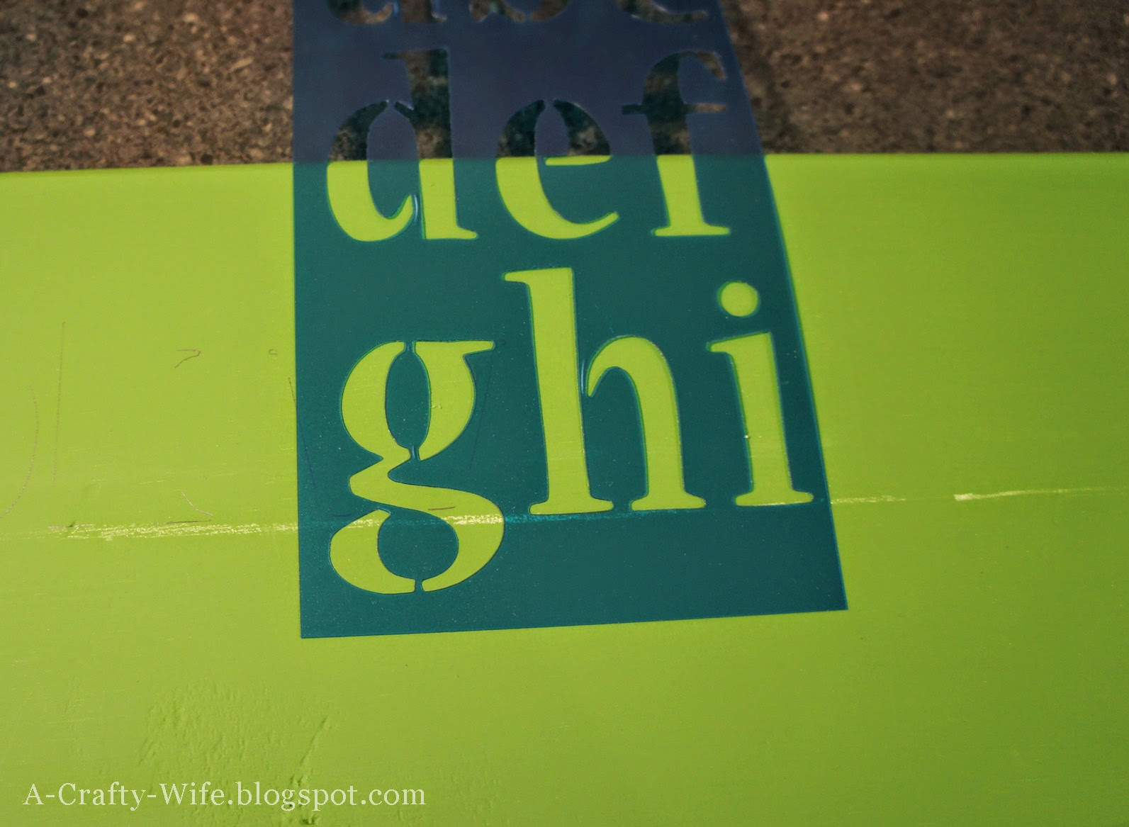 "Nueva 2"" stencils on painted board 