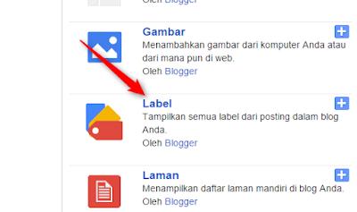 Pilih widget label