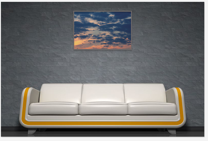 Interior decoration with photograph print,photo art print