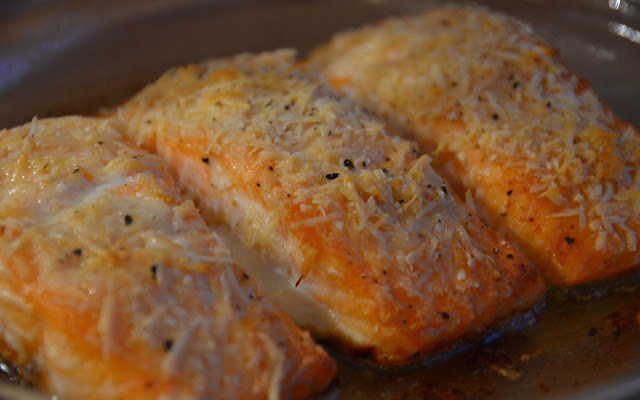 SALMON WITH PARMESAN CRUST
