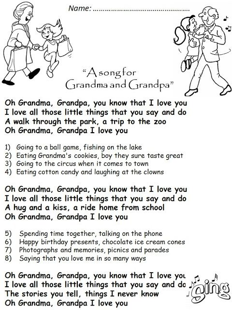 Top Grandparents Day Poem Templates: A Templates Of Grandparents Day Poem Was Changed To A Song For Grandma And Grandpa