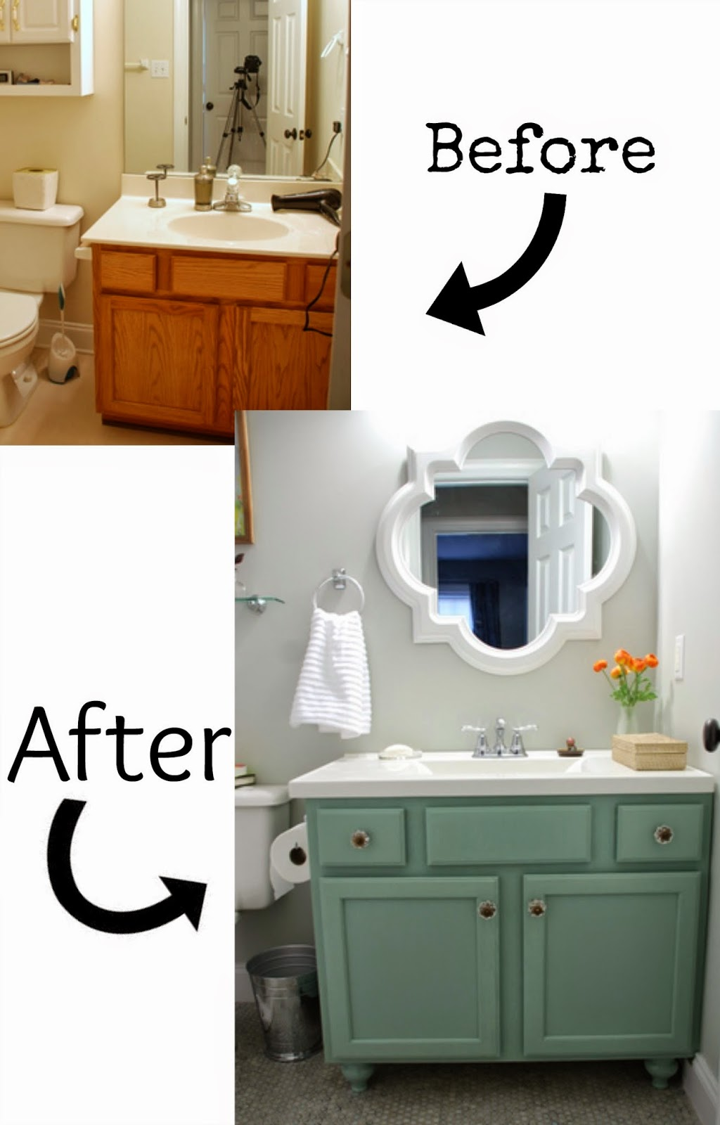 Redo Bathroom Cabinets Prepossessing Pneumatic Addict  7 Best Diy Bathroom Vanity Makeovers Design Ideas