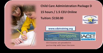 Child Care Administration Training (15 Hours/1.5 CEU)