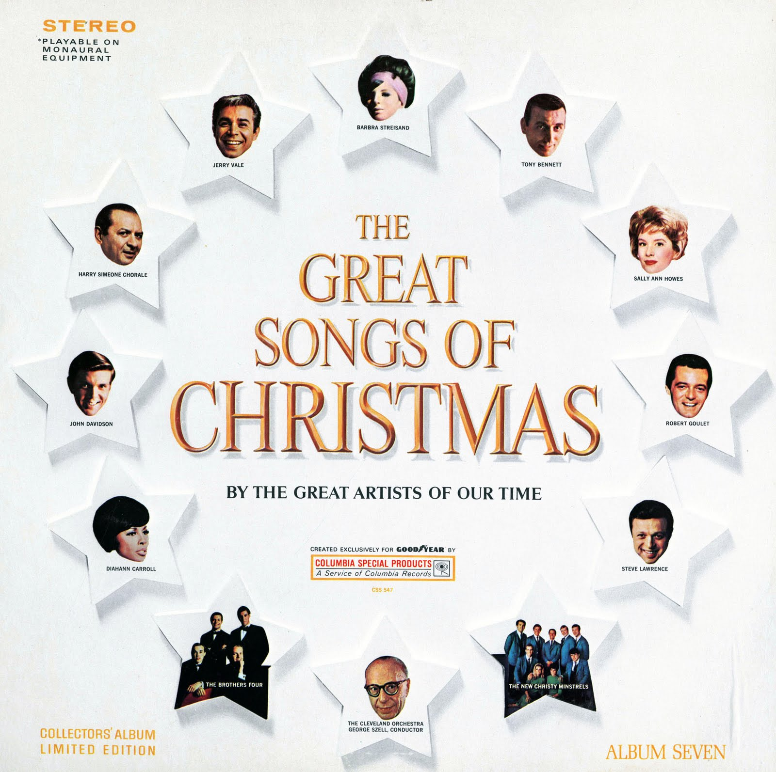 Goodyear Great Songs of Christmas, Volume 7. 1967. | Unforgettable ...
