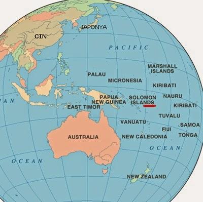 Solomon Adaları Dünyanın Neresinde