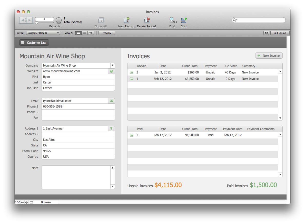 the mac office: estimates and invoices: filemaker pro 12 starter, Invoice templates