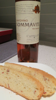 Homemade Almond Biscotti with Castellani Sommavite Santovino