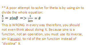 how to solve sine equations