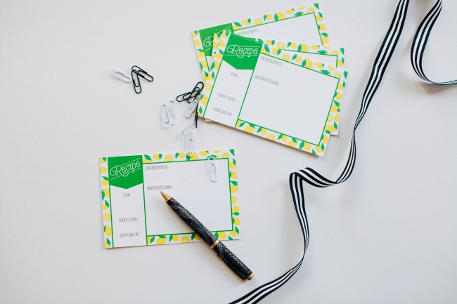Matrick and Eve Design, Pretty Stationary, recipe cards