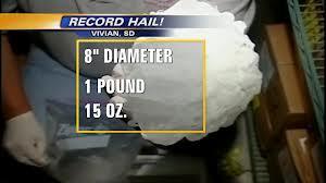 Granizo en Vivian South Dakota