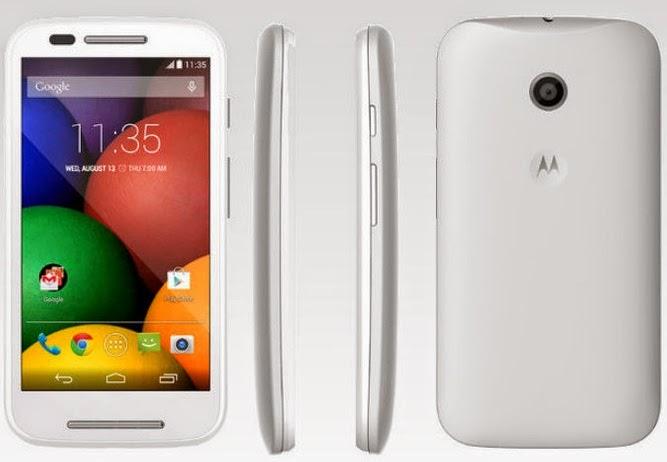 Tampilan Candy Bar Motorola Moto E