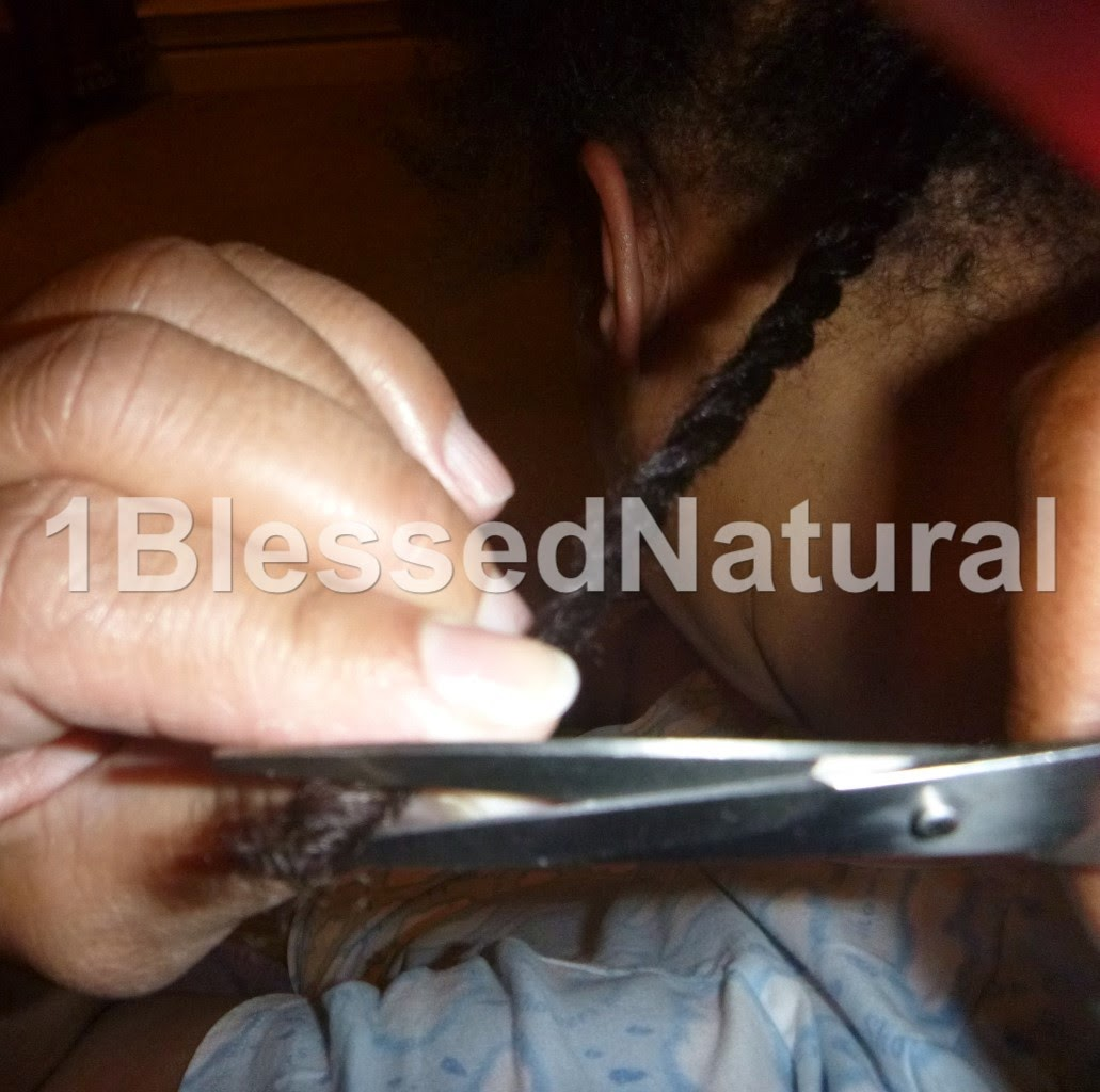 Copyright 2015 1BlessedNatural- trimming twist