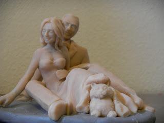 orme magiche costruzione cake topper personalizzati sposini torta nuziale fatti a mano spiaggia gatto