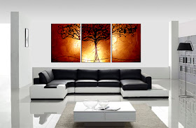 "ORIGINAL ABSTRACT PAINTING ""TREE OF LIFE - COPPER""  - SHIPPING IS FREE!"