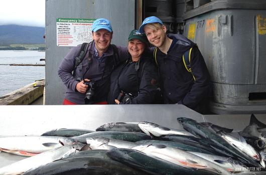 Blogger in Alaska bei den Lachsen