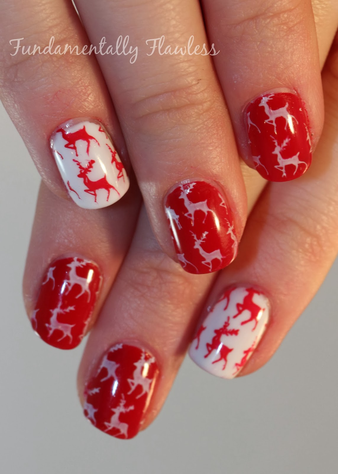 Fundamentally flawless christmas nail art reindeer nails moyou reindeer nail art with moyou festive collection 03 stamping plate prinsesfo Images