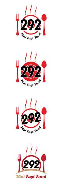 งานออกแบบโลโก้ร้านอาหาร 292 Thai Fast Food
