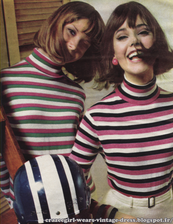 turtle neck striped sweater 1964 jumper 60s 1960 twiggy