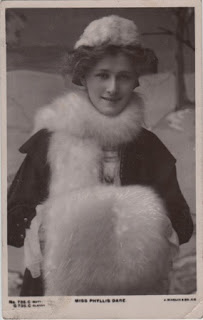 Vintage postcard of Miss Phyllis Dare