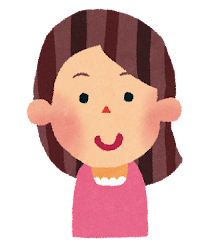 女性のイラスト「笑顔」