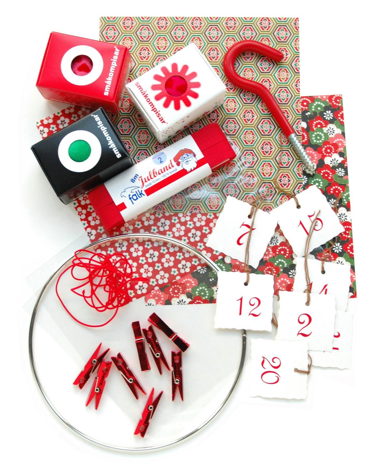 Advent Calendar Design Your Own : Småkompisar create your own advent calendar filled with