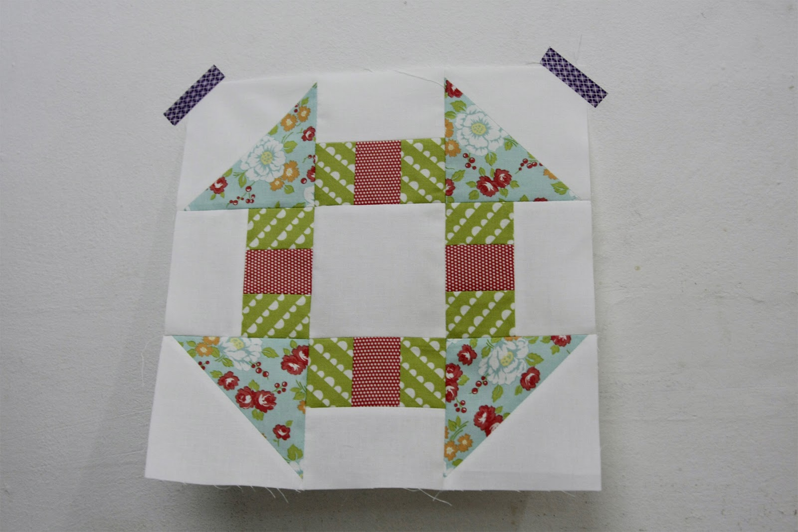 BOM Sew Lux June block, Happy Go Lucky, Camille Rosekelley, Simplify
