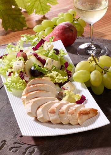 cholesterinarme rezepte winzersalat mit h hnchenbrust fit gesund. Black Bedroom Furniture Sets. Home Design Ideas