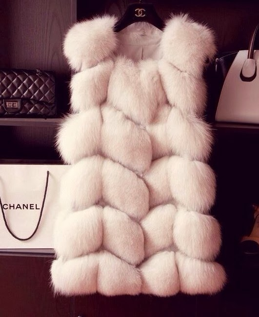 White Soft Jacket for Cold by Chanel
