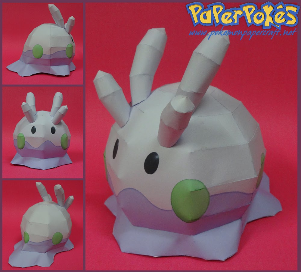 Pokemon Goomy Papercraft