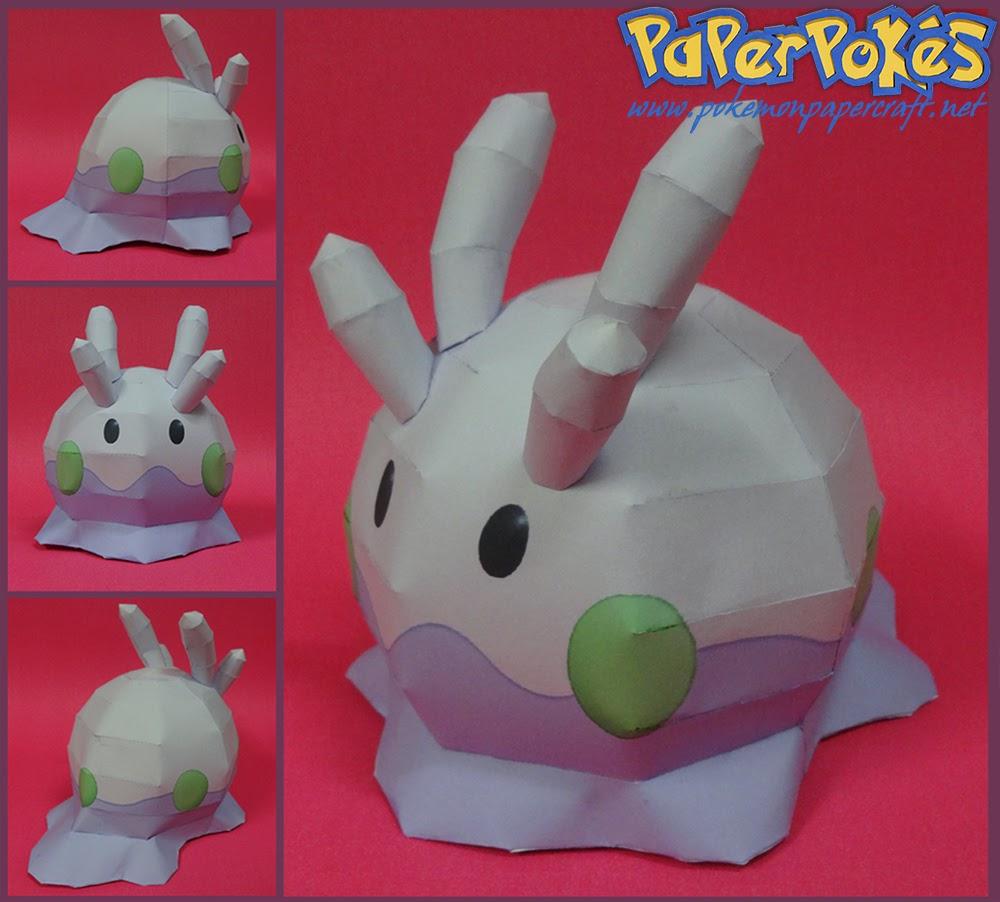 Pokemon Goomy Papercraft