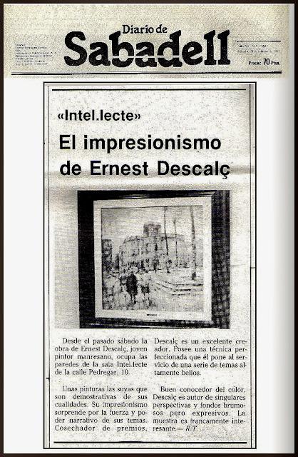 DIARIO-SABADELL-EXPOSICION-INTEL·LECTE-ROSA TEN-PINTOR-ERNEST DESCALS