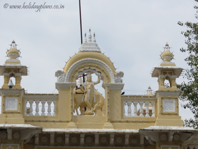 Lord Krishna architecture at the entrance gate of Mysore palace