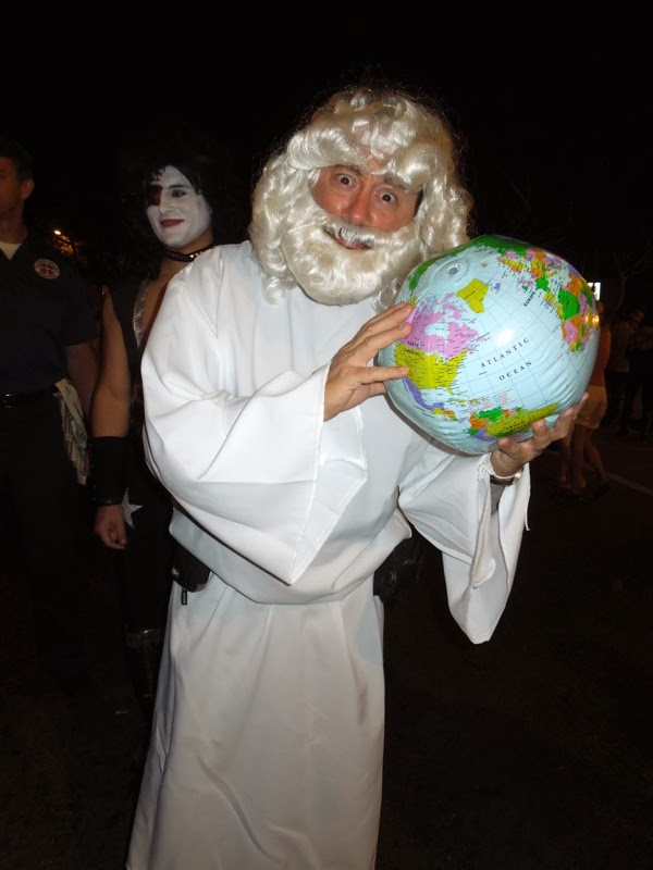 God costume West Hollywood Halloween 2013