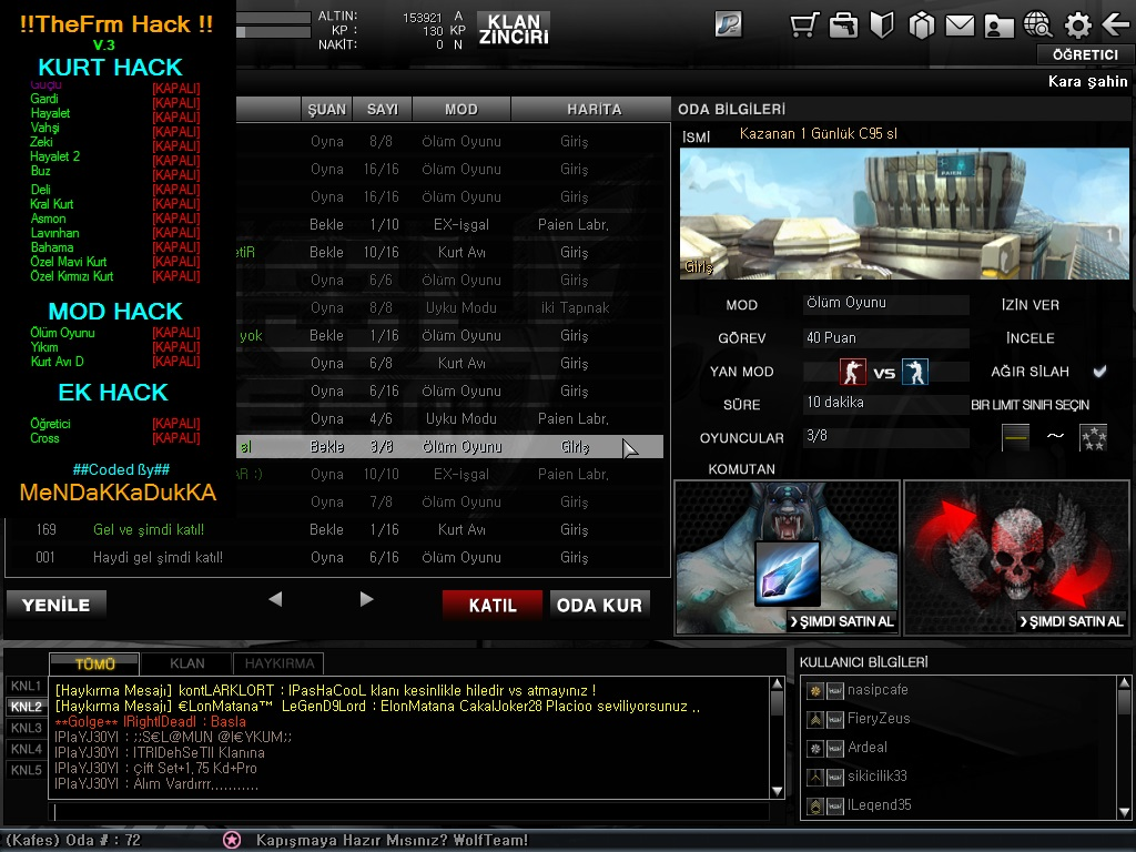 ss %282013 04 06 at 03 06 16%29 WTS Wolfteam Hile Kurt Multihack v3.0 Yeni Versiyon indir