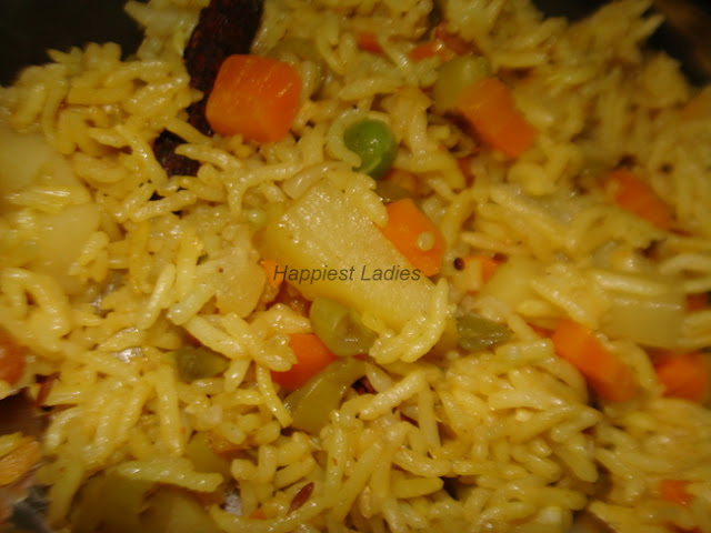 Vegetable Pulav+vegetable recipes