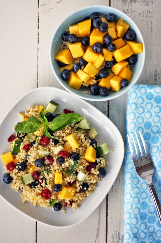 Mango Blueberry Quinoa Salad Recipe