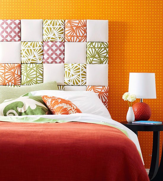 creative bed headboards designs, ideas for colorful bedrooms
