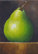 ACEO Green Pear